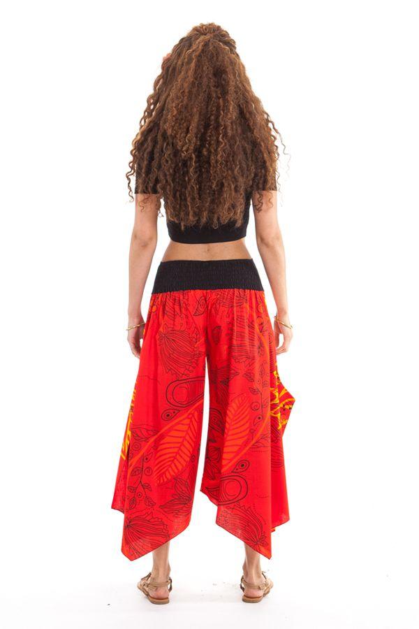 Pantalon d'été Rouge pour Femme Original et Coloré Edouard 281399