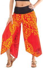 Pantalon d'été Rouge pour Femme Original et Coloré Edouard 312553