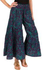 Pantalon d'été turquoise look Bohème et Ethnique Augustin 292648