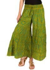 Pantalon d'été vert look Bohème et Original Augustin 292672