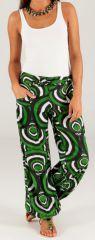 Pantalon d'été Vert pour Femme Ethnique et Original Milan 280309