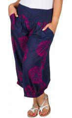 Pantalon de plage coloré femme grande taille Antoine