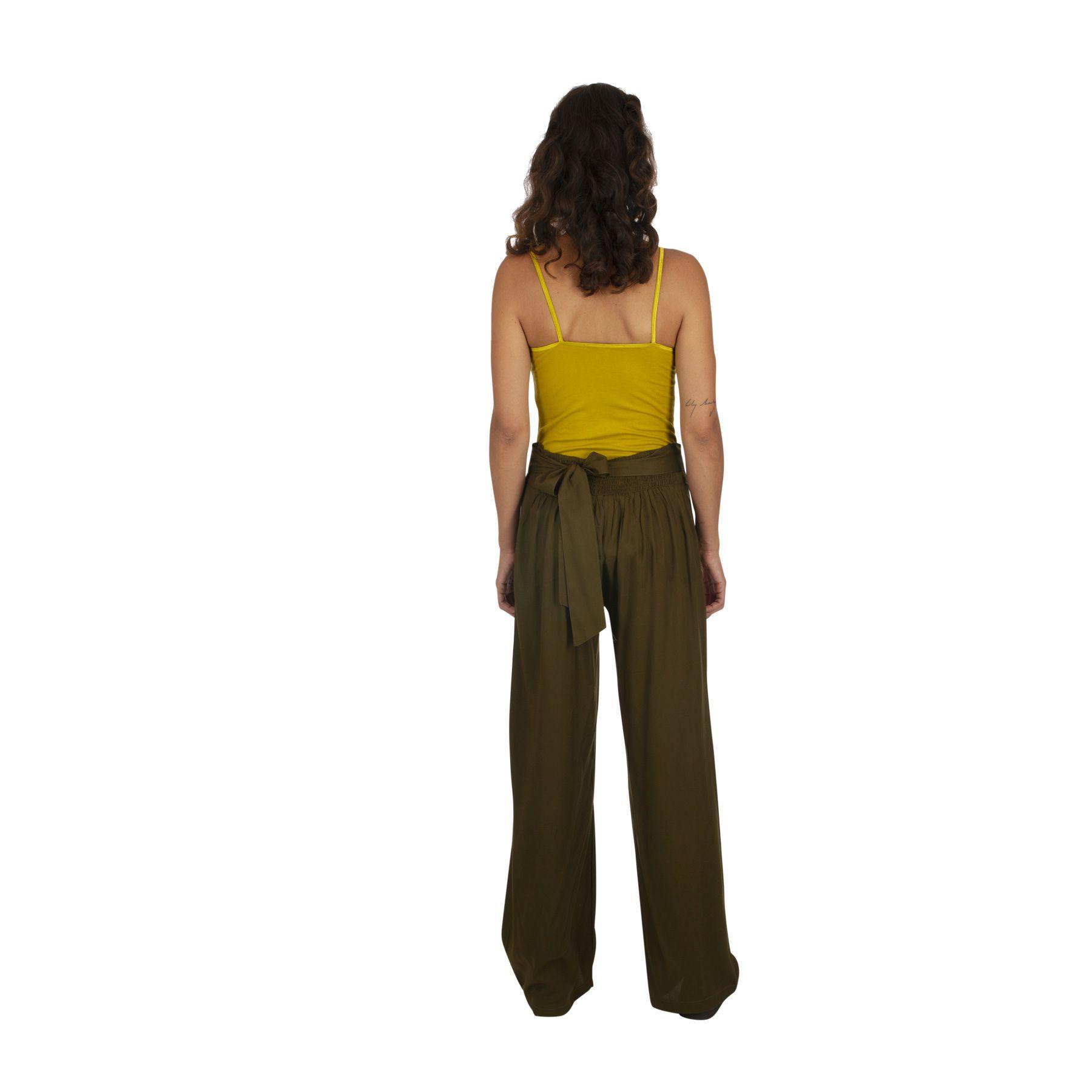 Pantalon de ville droit femme morphologie kaki pas cher Friendly 319540