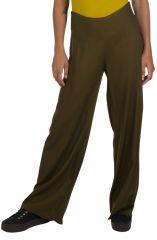 Pantalon de ville droit femme morphologie kaki pas cher Friendly 319541