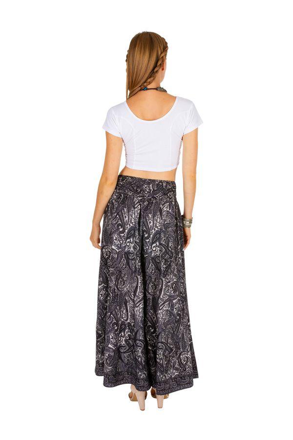 Pantalon décontracté pour femme noir et gris avec une coupe ample Nelly