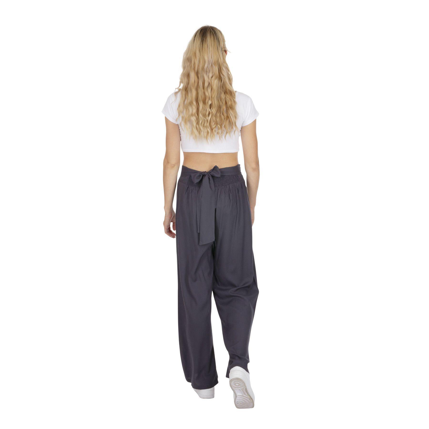 Pantalon droit femme gris esprit chic ethnique Friendly 319543