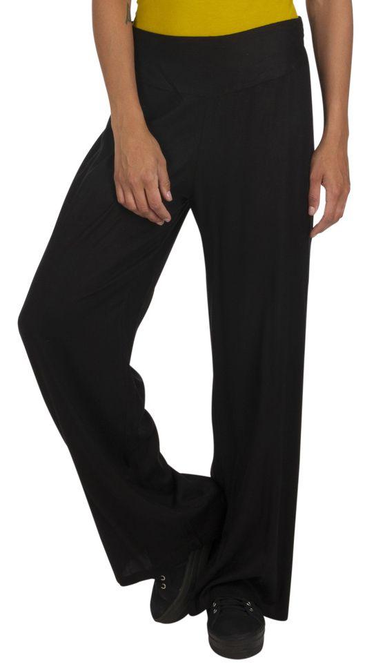 Pantalon droit noir femme chic pas cher taille élastique Friendly 318385