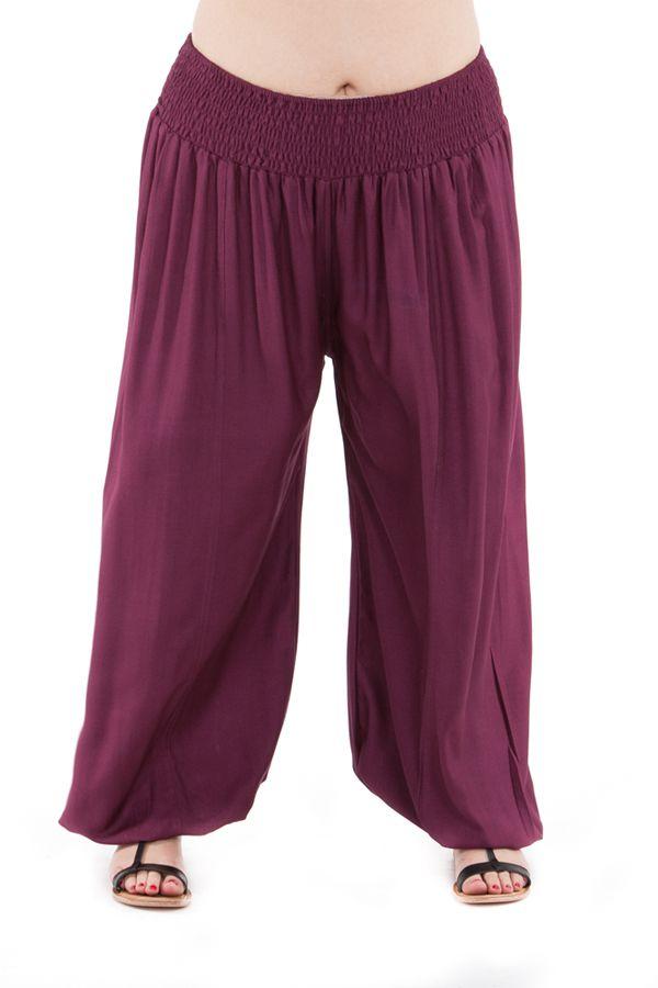 pantalon edena pour femme grande taille type aladin prune. Black Bedroom Furniture Sets. Home Design Ideas