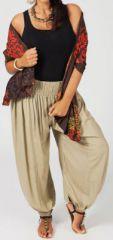Pantalon Edena pour Femme Grande taille type Aladin Sable 274812