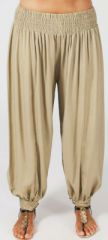 Pantalon Edena pour Femme Grande taille type Aladin Sable 274813