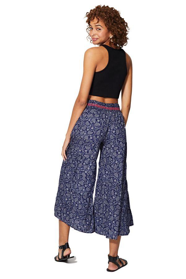 Pantalon élastique femme fluide chic et large bohème Mayuka
