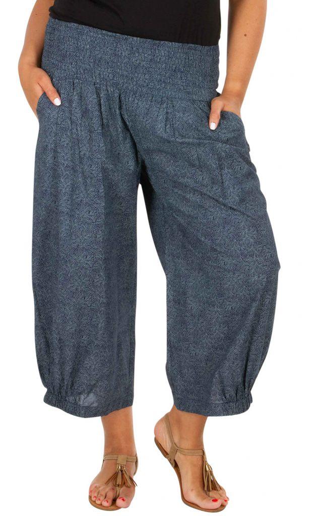 Pantalon élégant et tendance gris femme grande taille Enzo