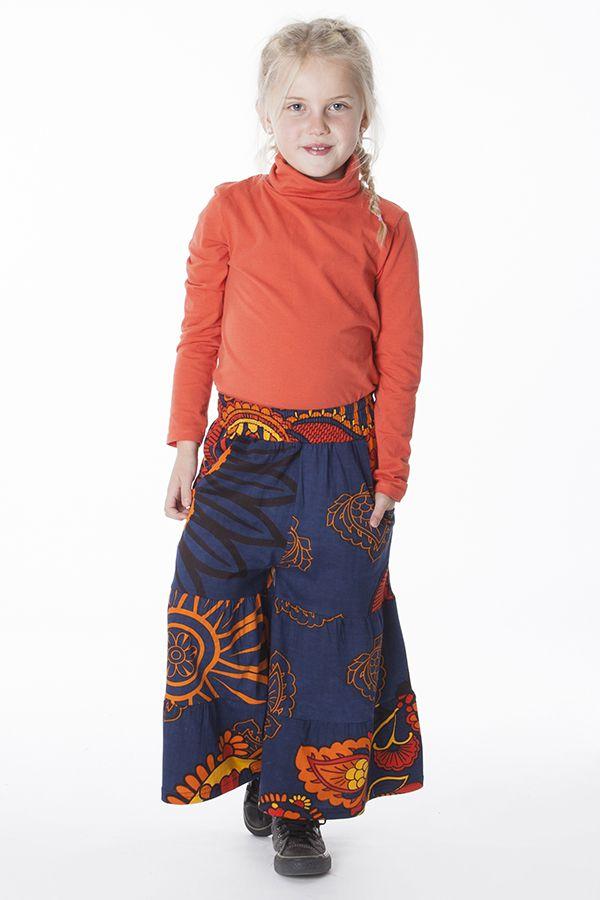 Pantalon enfant fille 3-10 ans large avec imprimés Lorie 286521