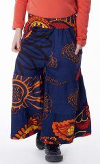 Pantalon enfant fille 3-10 ans large avec imprimés Lorie 286951