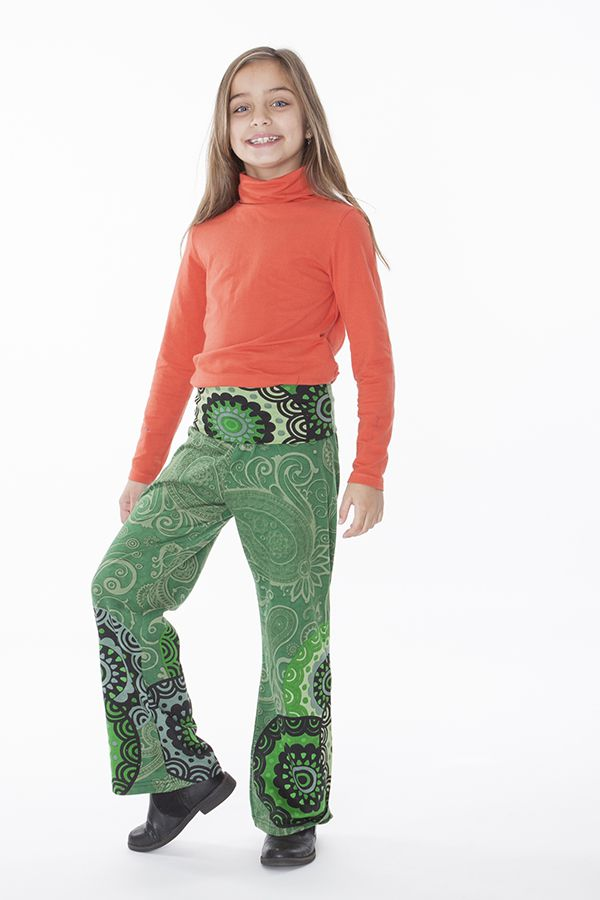 Pantalon enfant fille 3-10ans imprimés et confortable Lys 286507