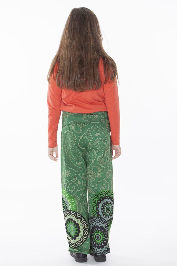 Pantalon enfant fille 3-10ans imprimés et confortable Lys 286508