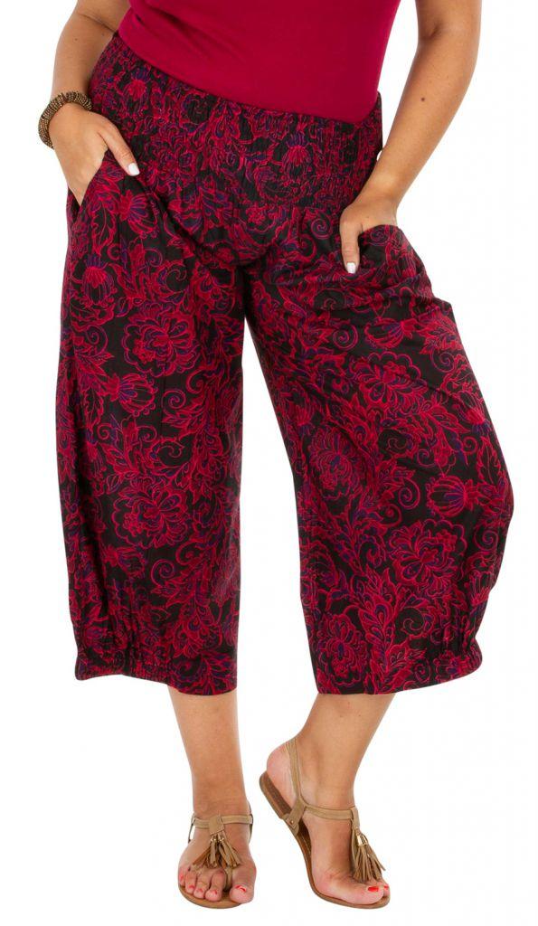 Pantalon ethnique-chic élastiqué femme grande taille Lea 308156