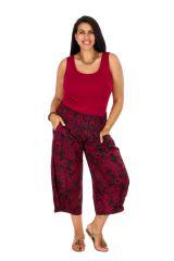 Pantalon ethnique-chic élastiqué femme grande taille Lea 308157
