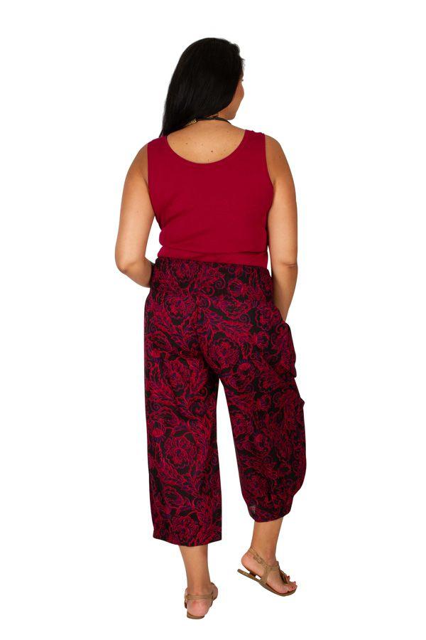 Pantalon ethnique-chic élastiqué femme grande taille Lea 308158