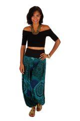 Pantalon ethnique décontracté et fluide pour femme Ilouna