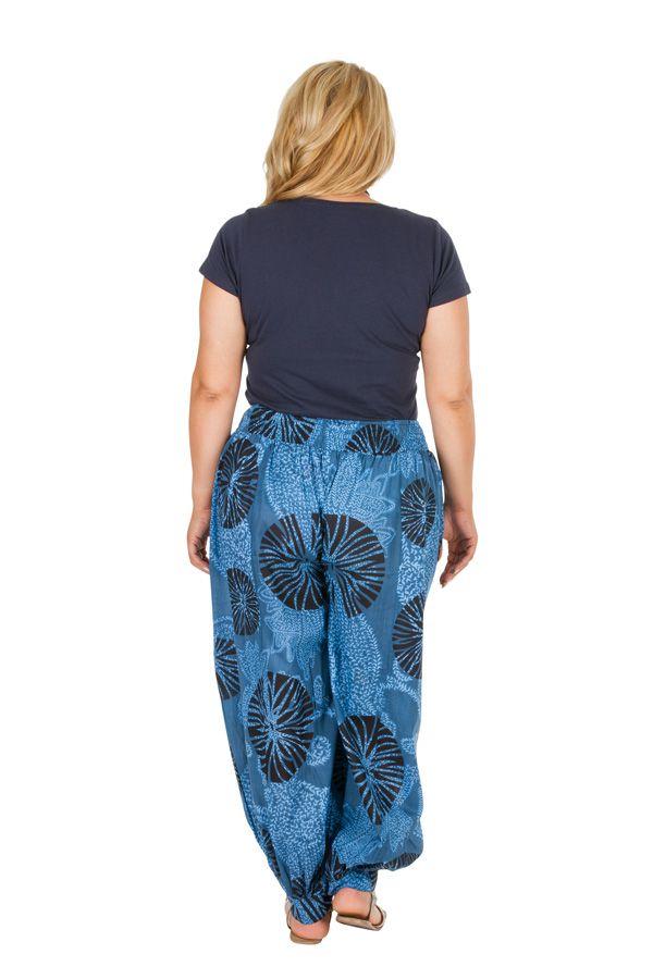 Pantalon ethnique élastiqué femme grande taille Kaly