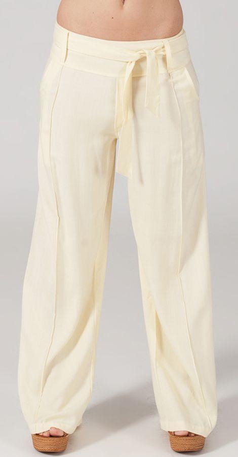 Pantalon Ethnique et Agréable large pour femme Glenn Crème 282327