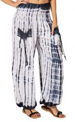 Pantalon ethnique et original blanc Tie & Die Tom 282791