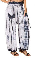 Pantalon ethnique et original blanc Tie & Die Tom 282791