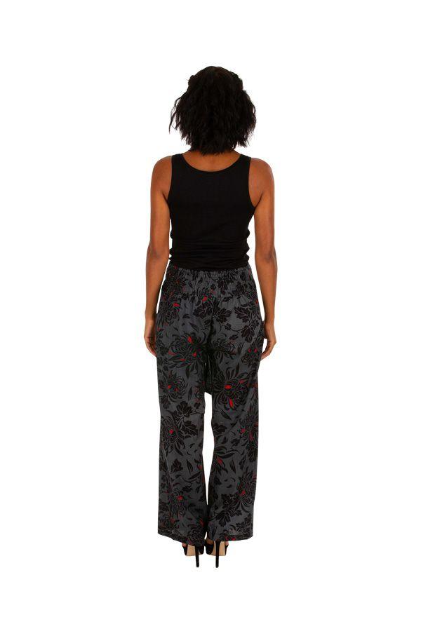 Pantalon ethnique femme coupe droite pas cher Luiza