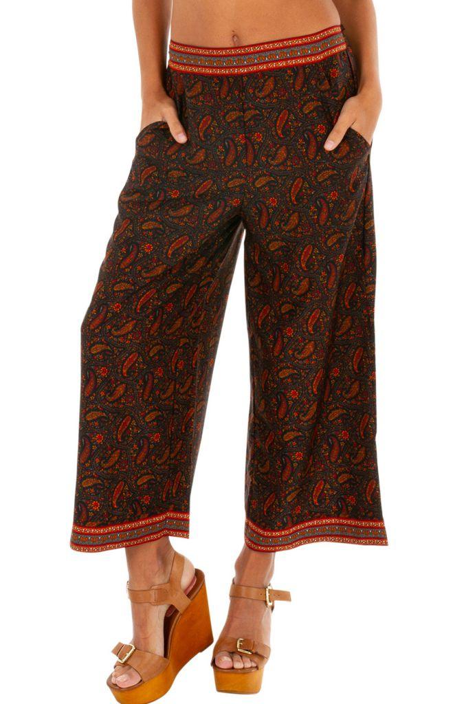 Pantalon ethnique look boho chic pour femme Madison