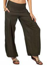 Pantalon ethnique pour femme kaki Guy 282650