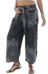 Pantalon Ethnique pour femme Original et Elégant smocké Thévy 292331