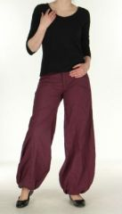 Pantalon ethnique prune Gulika 269954
