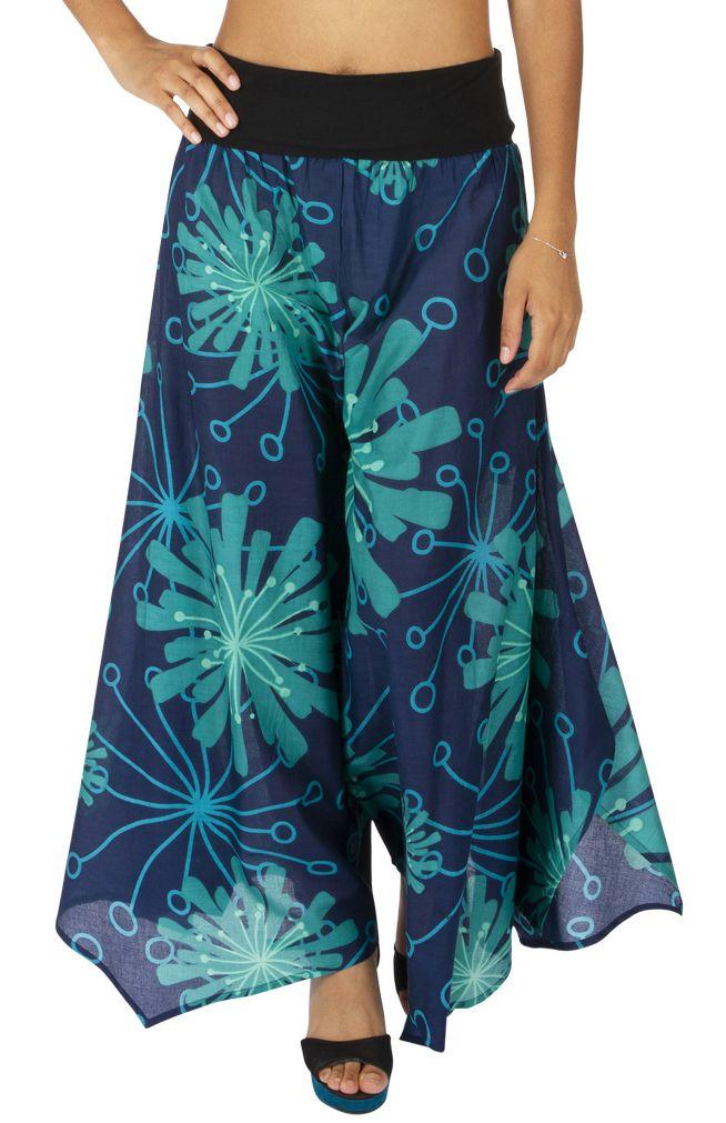 Pantalon évasé pour femme style bohème Nina