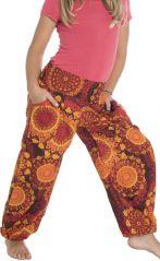 Pantalon fantaisie coupe droite smocké au dos Perla 294612
