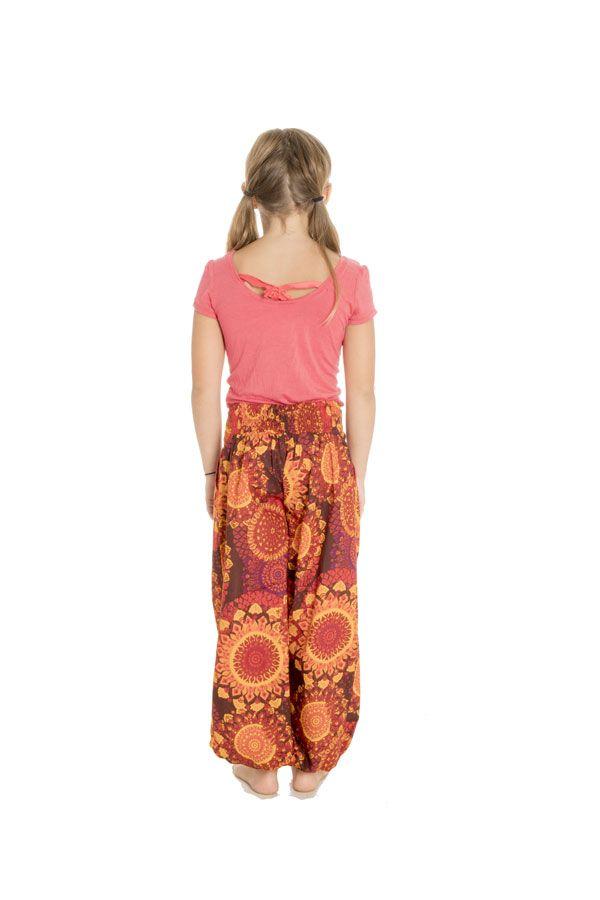 Pantalon fantaisie coupe droite smocké au dos Perla 294614