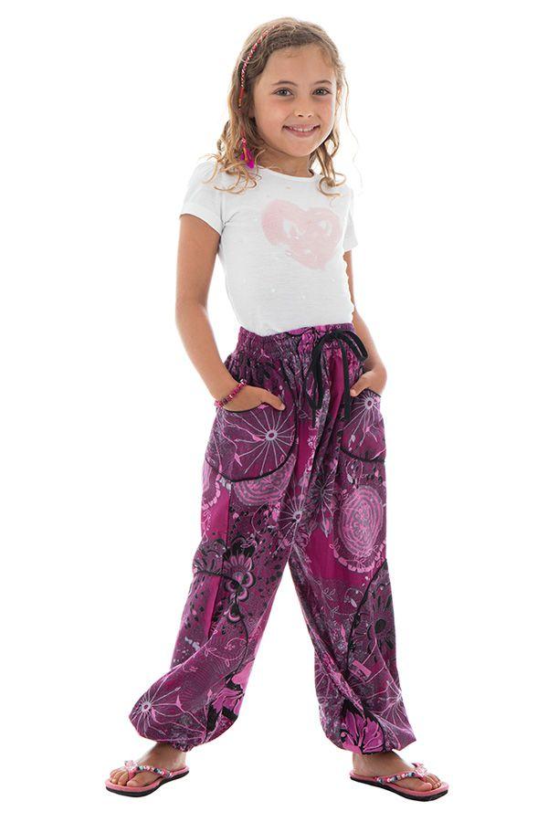 Pantalon fantaisie et décontracté pour enfants avec imprimés Tulsa 294246