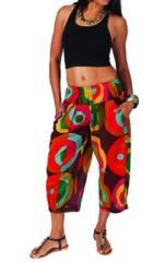 Pantalon femme 3/4 imprimé coloré Adhara 267461