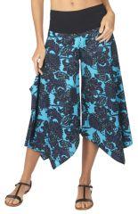 Pantalon femme avec une coupe large et asymétrique en coton Vodky 317021
