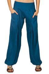 Pantalon femme basique et original bleu Guy 282633