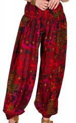Pantalon femme bouffant à taille élastique rouge Myriam 294500