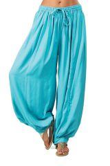 Pantalon femme bouffant Coloré et Agréable Gilian Turquoise 282239