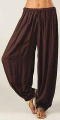 Pantalon femme bouffant Ethnique et Original Gilian Choco 274618
