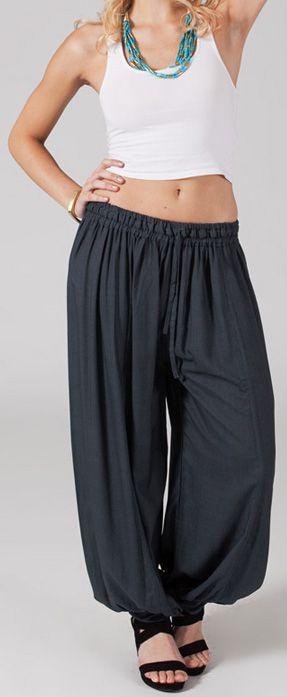 Pantalon femme bouffant Ethnique et Original Gilian Gris 274624