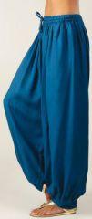 Pantalon femme bouffant Ethnique et Original Gilian Pétrole 274619
