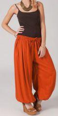 Pantalon femme bouffant Ethnique et Original Gilian Rouille 274614