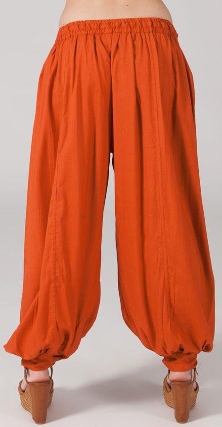 Pantalon femme bouffant Ethnique et Original Gilian Rouille 274615