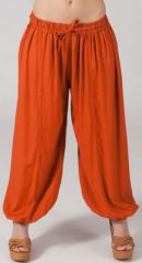 Pantalon femme bouffant Ethnique et Original Gilian Rouille 274616