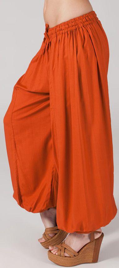 Pantalon femme bouffant Ethnique et Original Gilian Rouille 274617