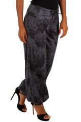 Pantalon femme bouffant gris look bohème tendance Jehan